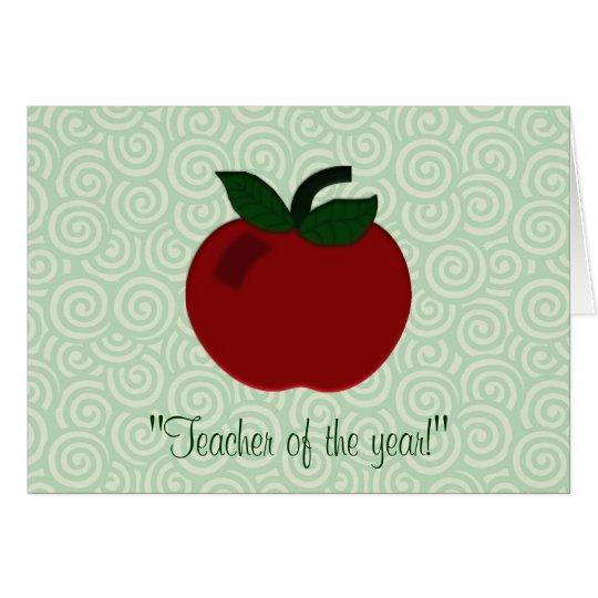 Apple Teacher Collection Card