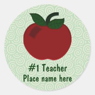 Apple Teacher Collection Classic Round Sticker