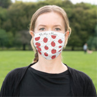 Apple Teacher Confetti Heart Pattern Cloth Face Mask