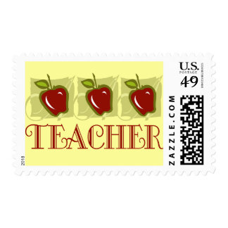 Apple Teacher School Gift Postage