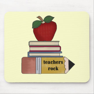 Apple Teachers Rock Tshirts and Gifts Mouse Pad