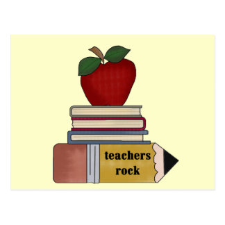 Apple Teachers Rock Tshirts and Gifts Postcard