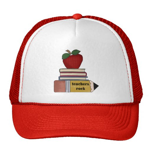 Apple Teachers Rock Tshirts and Gifts Trucker Hat