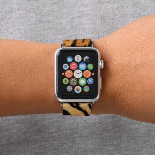Apple tiger fur pattern animal watch band