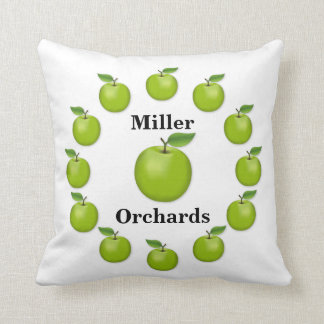 Apple Time, Granny Smith Throw Pillow