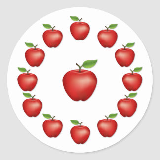 Apple Time, Red Delicious Classic Round Sticker