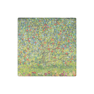 Apple Tree and Flowers Stone Magnet