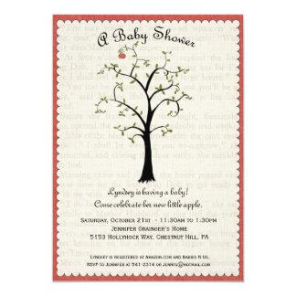 "Apple Tree Baby Shower Invitation 5"" X 7"" Invitation Card"