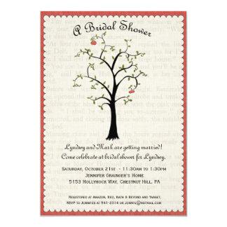 "Apple Tree Bridal Shower Invitation 5"" X 7"" Invitation Card"