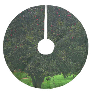 Apple Tree Brushed Polyester Tree Skirt