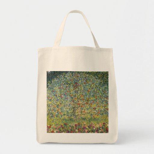 Apple Tree by Gustav Klimt, Vintage Art Nouveau Canvas Bags