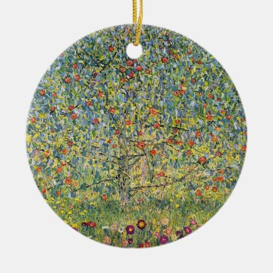 Apple Tree by Gustav Klimt, Vintage Art Nouveau Ceramic Ornament