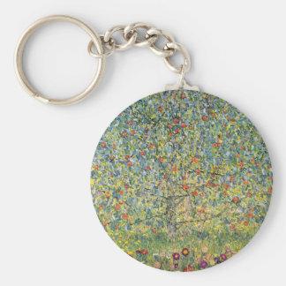 Apple Tree by Gustav Klimt, Vintage Art Nouveau Keychain