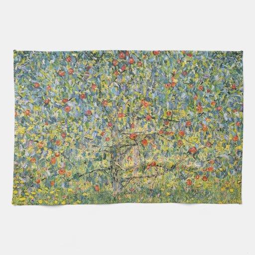 Apple Tree by Gustav Klimt, Vintage Art Nouveau Kitchen Towels