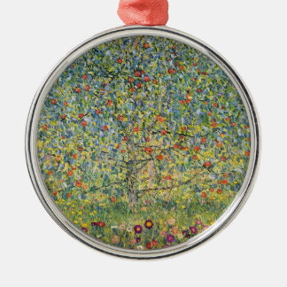 Apple Tree by Gustav Klimt, Vintage Art Nouveau Metal Ornament