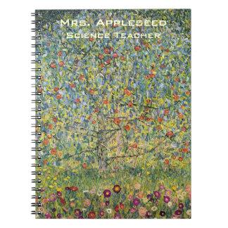 Apple Tree by Gustav Klimt, Vintage Art Nouveau Notebook
