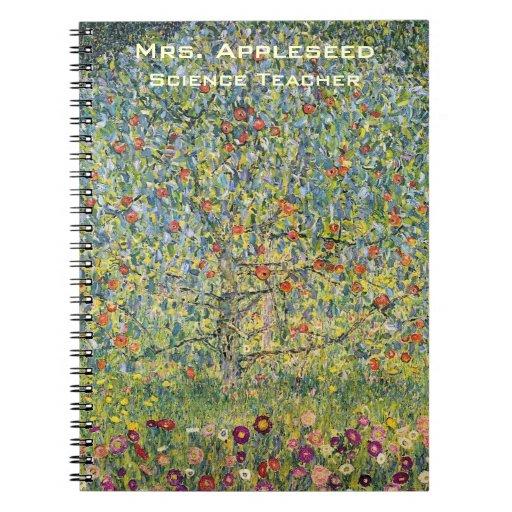 Apple Tree by Gustav Klimt, Vintage Art Nouveau Note Book