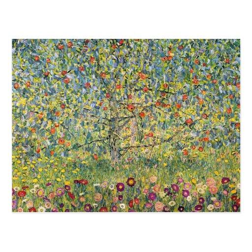 Apple Tree by Gustav Klimt, Vintage Art Nouveau Postcard