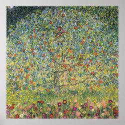 Apple Tree by Gustav Klimt, Vintage Art Nouveau Poster