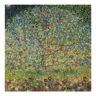 Apple Tree by Gustav Klimt Vintage Art Nouveau Poster