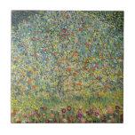 Apple Tree by Gustav Klimt, Vintage Art Nouveau Small Square Tile