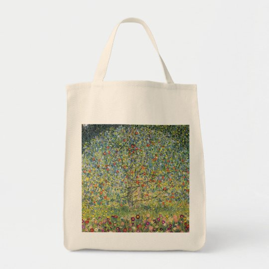 Apple Tree by Gustav Klimt, Vintage Art Nouveau Tote Bag
