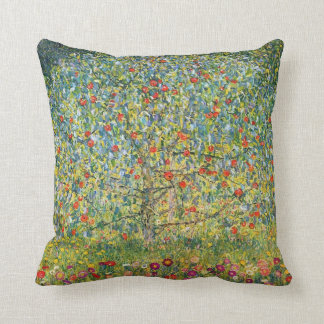 Apple Tree by Klimt Throw Pillow