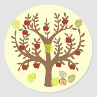 Apple Tree Classic Round Sticker