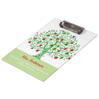 Apple Tree Custom Personalized Teacher Gift Clipboard