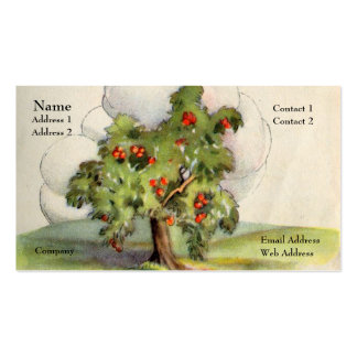 Apple Tree Double-Sided Standard Business Cards (Pack Of 100)