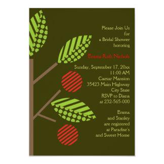 "Apple tree fall wedding bridal shower invitation 5"" x 7"" invitation card"