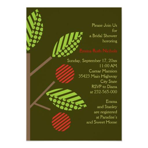Apple tree fall wedding bridal shower invitation