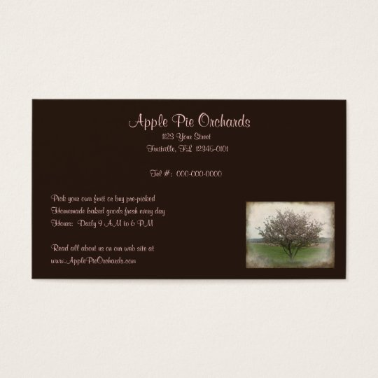 Apple Tree in Bloom Business Card