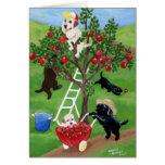 Apple Tree Labradors Greeting Card