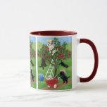 Apple Tree Labradors Painting Mug