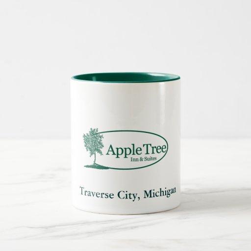 Apple Tree Mug/ Green Two-Tone Coffee Mug