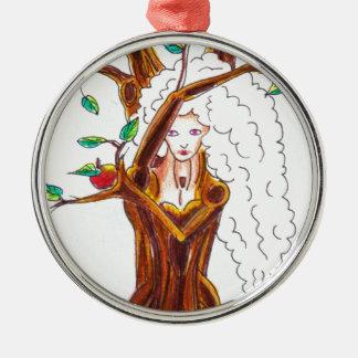 apple tree nymph metal ornament