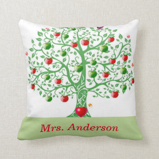 Apple Tree Personalized Gift for Teachers Throw Pillow