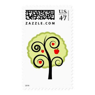 Apple Tree Postage Stamp