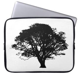 apple tree silhouette laptop sleeve