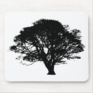 Apple Tree Silhouette Mouse Pad