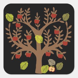 Apple Tree Square Sticker