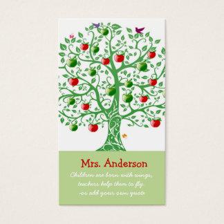 Apple Tree Teacher Quote Teacher Business Card