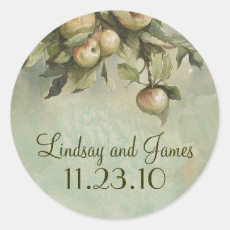 apple tree wedding stickers