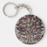 Apple Tree With Gazelles And Lions Key Chains