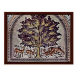 Apple Tree With Gazelles And Lions Post Card