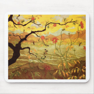 Apple Tree with Red Fruit Mouse Pad