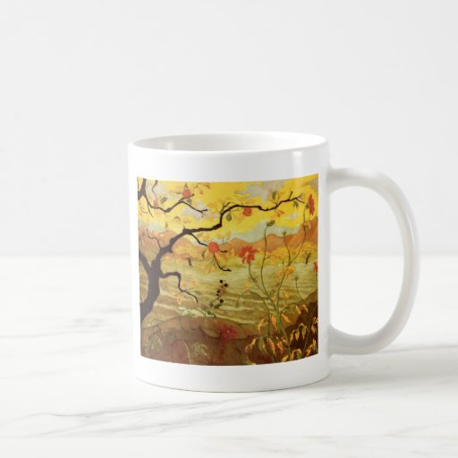 Apple Tree with Red Fruit Mugs