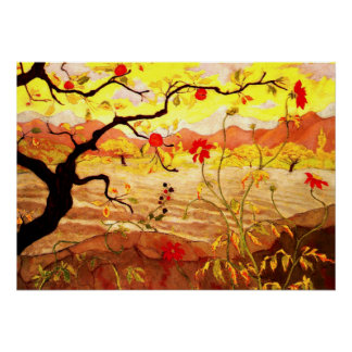 Apple Tree with Red Fruit - Paul Ranson artwork Poster
