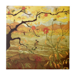 Apple Tree with Red Fruit Tile